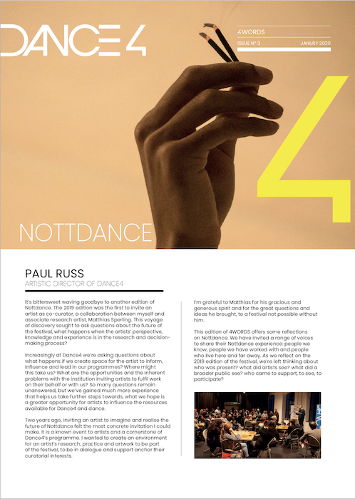 4WORDS Issue 3 - Nottdance